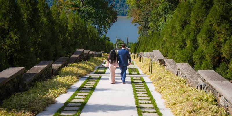 Fairytale Engagement At Untermyer Park And Gardens In Yonkers Ny